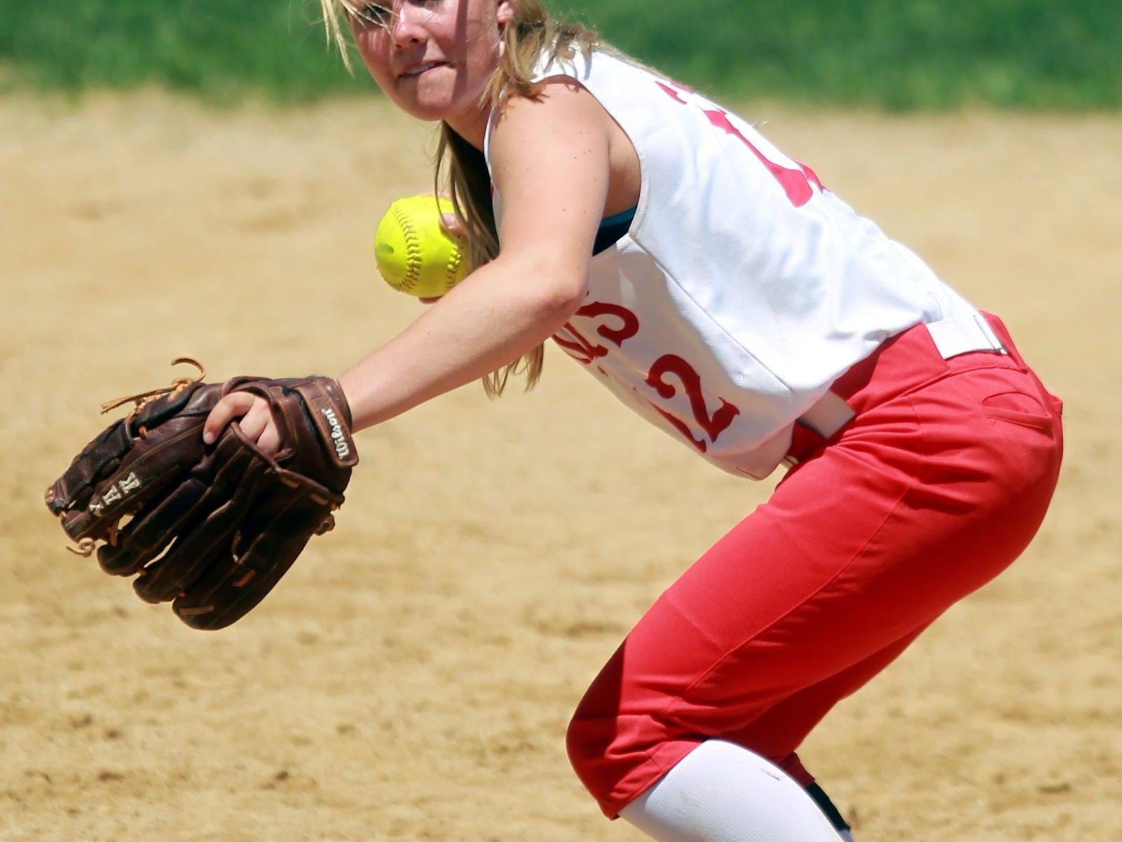 Highland's Bridget Murphy, pictured last season, has a team-best 14 sacrifices and a .284 average for the Huskies in 2015.