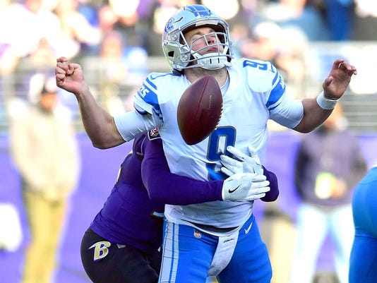 NFL: Detroit Lions at Baltimore Ravens