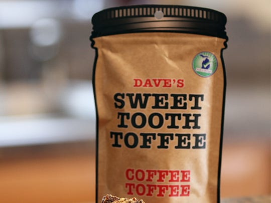Dave's Sweet Tooth Toffee is sold in packages or mason jars.