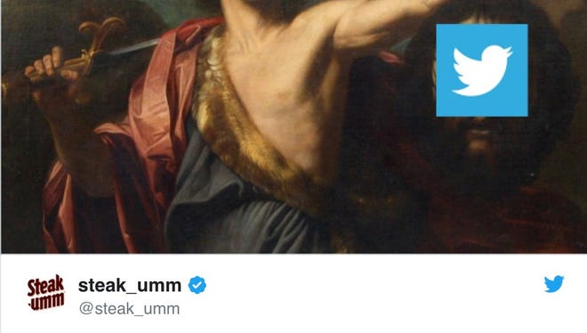 Twitter's grand defeat, as seen in a meme published to @steak_umm.