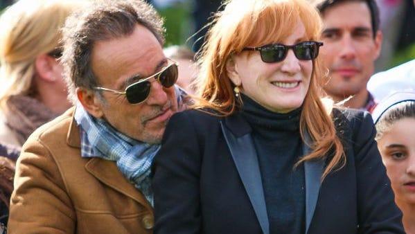 Bruce Springsteen and Patti Scialfa.