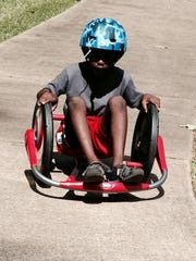 Antwoin Bush, 8, rides the two-wheeled Cyclone at a Rec2U program last year. This year's Rec2U program will launch on Tuesday from 10:30 a.m. to 1 p.m. at Harmon Park on Monroe Street.