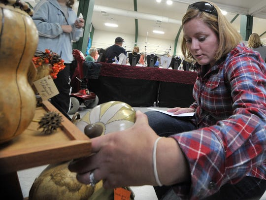 Danielle Huntington looks at some gourd craft selections