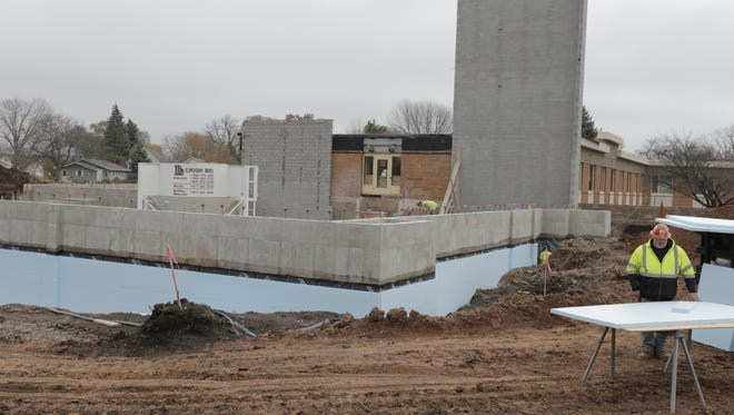 Construction and upgrades continue at Evergreen in Oshkosh, which includes 41 new spacious independent apartments and  a new main entrance, additional parking, a new chapel and performing arts center, a game room and expanded library, November 15, 2016.