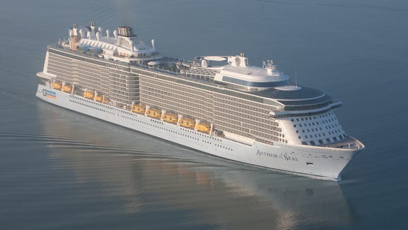 Royal Caribbean's Anthem of the Seas is tied as the