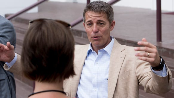 Rep. Ed Henry, R-Hartselle, holds a press conference