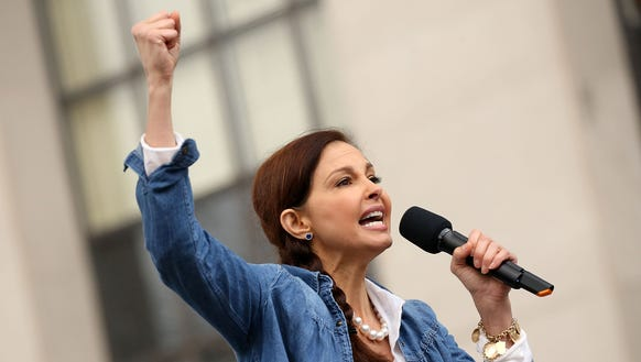 Ashley Judd, spoke at the rally at the Women's March