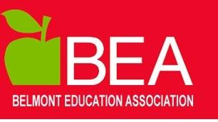 Belmont Education Association logo.