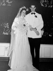 Helen and Elmo Barry's wedding photograph.