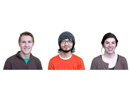 Left to right: Chris Kuryak, Alvin Liang, and Morgan