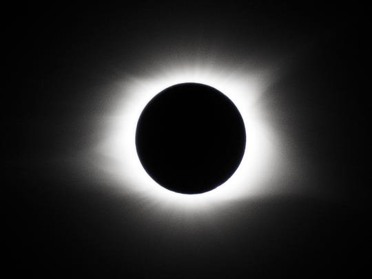 The eclipse during totality in Clarksville on Aug.
