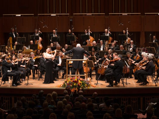 Full-orchestra photo is the Indianapolis Symphony Orchestra