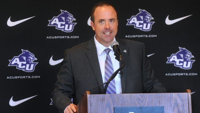 New Abilene Christian University coach Adam Dorrel talks about his vision for the program at a press conference Monday, Dec. 19, 2016.