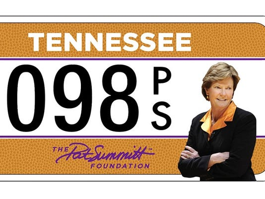 Pat Summitt license plate