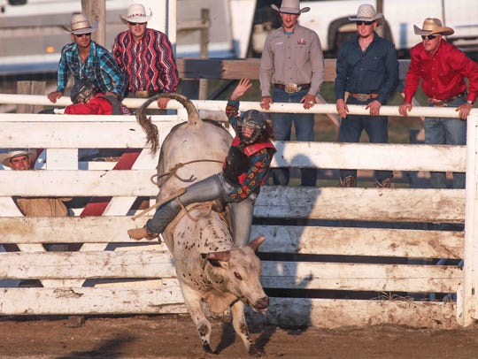 Lauren Ehrlich participated in bull riding competition