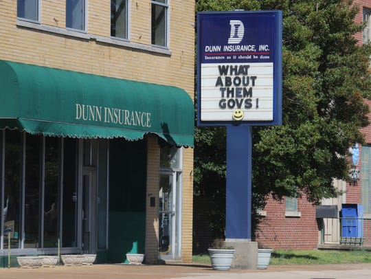 Dunn Insurance on Madison Street shows its support