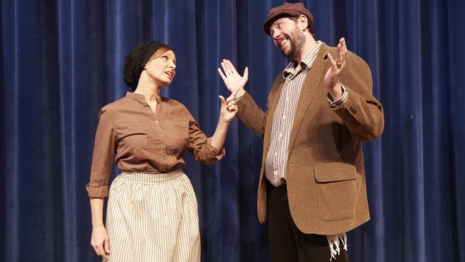 Robin Morris-Gaylord and Brian Bohrer in Webster Theatre Guild's Fiddler On The Roof.