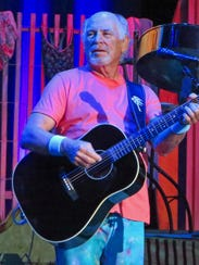 Barefoot Jimmy Buffett performs at the DTE Energy Music