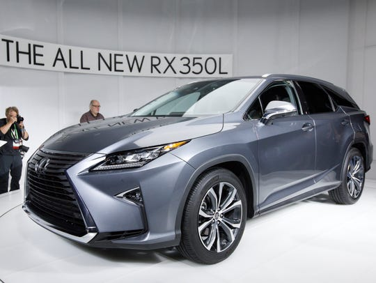 The new Lexus RX350L is unveiled during a press conference