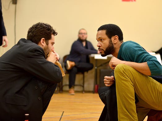 "Ben Graney and Jason Veasey in rehearsal for ""I Now"