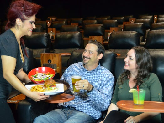 hottest trend at the movies  luxury theaters wine and dine moviegoers in fight for entertainment