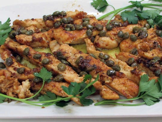 Sauteed Chicken Breasts With Olive And Caper Sauce Recipe — Dishmaps