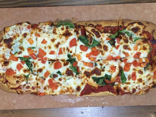 The Chicken Margarita Flatbread at Get Fit Grill in West Des Moines is intended to serve two people.