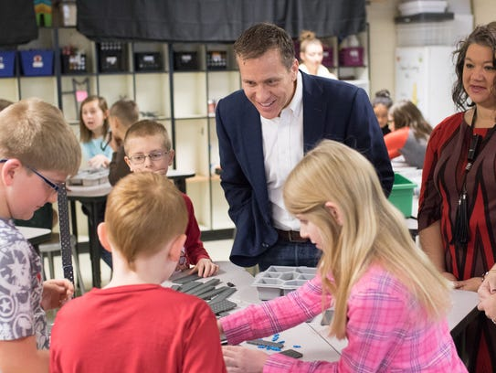 In December, Gov. Eric Greitens visited the Lebanon district to meet with students, teachers and school leaders to discuss education priorities.