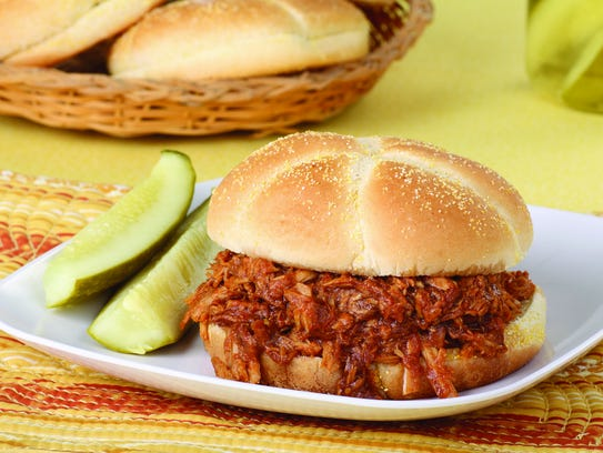 Smoked Pulled Pork Sandwiches with Honey Barbecue Sauce