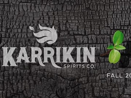 The logo for a new craft beverage company opening this fall in the Village of Fairfax - Karrikin Spirits Co.