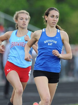 Whitefish Bay senior Cami Davre won three events at the Germantown Sectional on Thursday