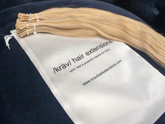 One of the Krav Hair Extensions sold at Hair Addict Salon & Extension Bar in Toms River. The extensions use the finest quality hair from Russia.