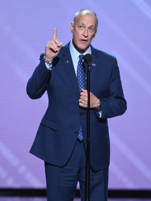 Buffalo Bills legend Jim Kelly accepts the Jimmy V award for Perseverance at the ESPY Awards at Microsoft Theater on Wednesday, July 18, 2018, in Los Angeles.