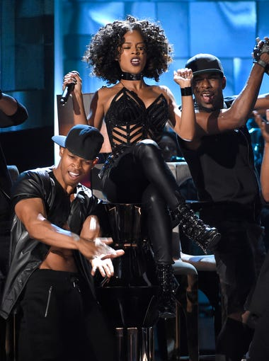 Serayah performs at the BET Awards at the Microsoft Theater on Sunday, June 28, 2015, in Los Angeles.