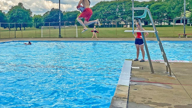 Lifeguard training at Denison Park Pool began Monday to prepare the popular summer destination for Wednesday's opening.