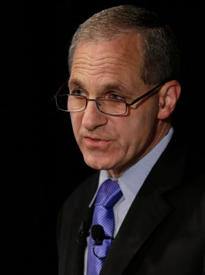 Former FBI director Louis Freeh speaks July 12, 2012, during a news conference in Philadelphia.