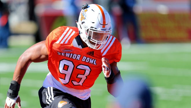 Texas-San Antonio defensive end Marcus Davenport was drafted by the New Orleans Saints with the No. 14 overall pick Thursday evening.