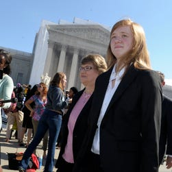 Rebecca Friedrichs, a veteran Orange County, Calif., school teacher, is lead plaintiff in a case asking the Supreme Court to rule that public employee unions can't collect fees from non-members.