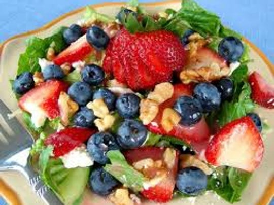 Choose to eat a healthy salad with fruits and veggies!