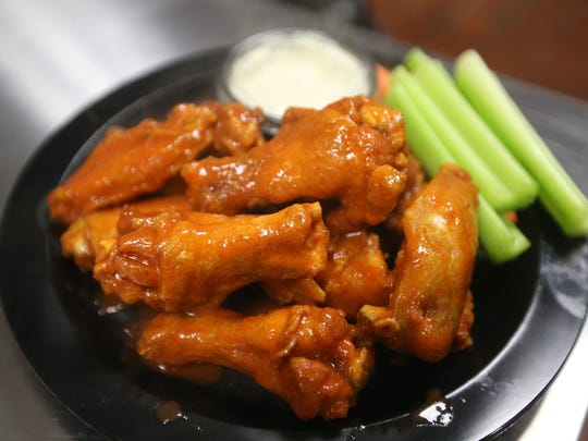 An order of Duff's Famous Wings at its newest location on West Henrietta Road.