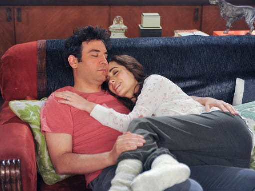 """""""Last Forever Parts One and Two""""  Ted finally finishes telling his kids the story of how he met their mother, on the special one-hour series finale of HOW I MET YOUR MOTHER, Monday, March 31 (8:00-9:00 PM, ET/PT) on the CBS Television Network.   Pictured: Josh Radnor as Ted, Cristin Milioti as The Mother. Photo: Ron P. Jaffe/Fox Television  © 2014 Fox Television. All rights reserved"""