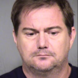 This photo provided by the Maricopa County Sheriffs office shows Brian Woolsey.  Peoria police have arrested Woolsey, 45,  and his wife, Jennifer Woolsey.