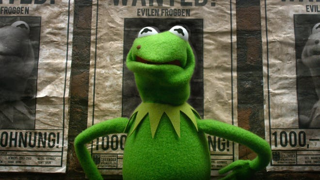 Evil Kermit doppleganger Constantine is the most wanted in 'Muppets Most Wanted.'