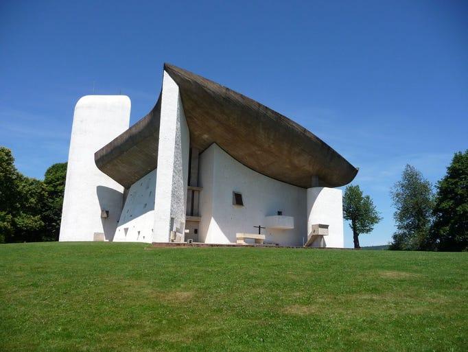 Built by French-Swiss architect Le Corbusier,                                                          Notre-Dame-du-Hau