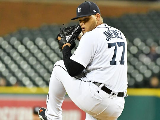 Tigers reliever Joe Jimenez was bashed for 28 runs