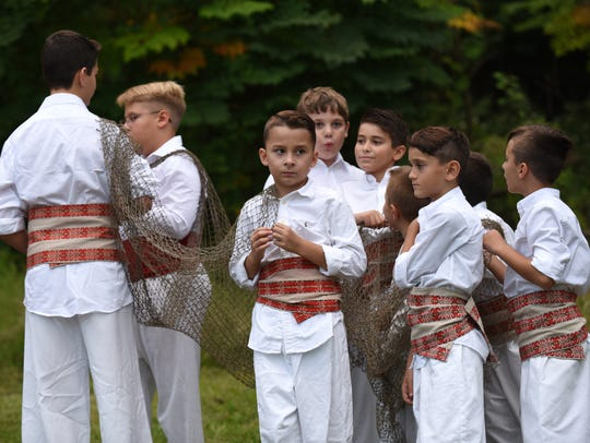 Children perform at the Fifth Annual Macedonian Picnic