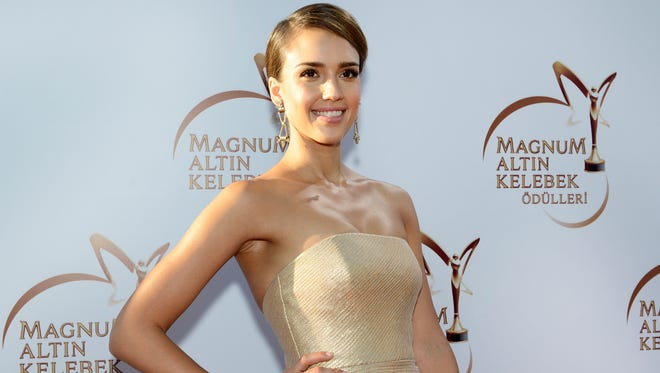 Jessica Alba attends the Magnum Golden Butterfly Awards at Zorlu Center on June 22, 2014, in Istanbul.