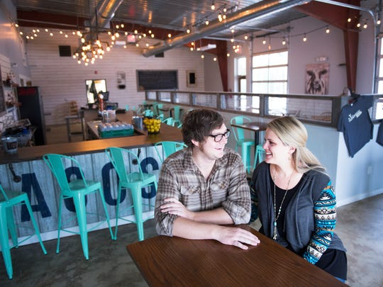 Part of Chris and Katie Williamson's decision to open Farmhouse Taco in Travelers Rest was to be able to spend more time together.