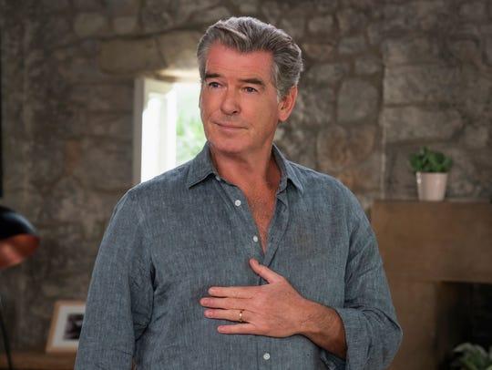 "Pierce Brosnan sings again as Sam in ""Mamma Mia!: Here"
