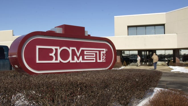 Medical equipment maker Zimmer Biomet Holdings, located in Warsaw, Ind., is being sued by a former salesman who says he was fired for complaining about its business practices. Biomet was bought by Zimmer in 2014.